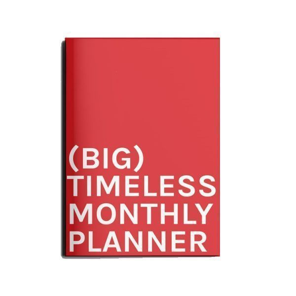 big tieless monthly planner octagon